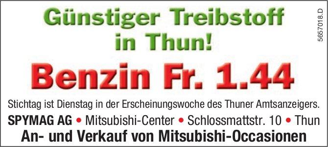 SPYMAG AG, Thun - Günstiger Treibstoff in Thun! Benzin Fr. 1.44