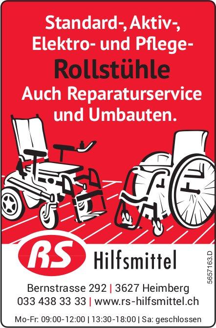 RS Hilfsmittel, Heimberg - Standard-, Aktiv-,  Elektro- und Pflege-Rollstühle