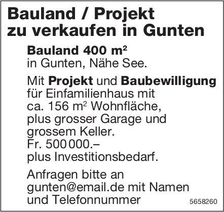 Bauland / Projekt zu verkaufen in Gunten
