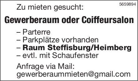 Gewerberaum oder Coiffeursalon, Raum Steffisburg/Heimberg, zu mieten gesucht