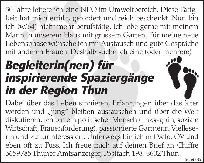 Begleiterin(nen) für inspirierende Spaziergänge in der Region Thun