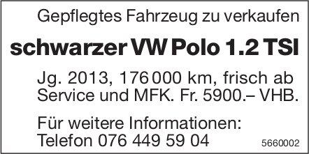 Schwarzer VW Polo 1.2 TSI zu verkaufen