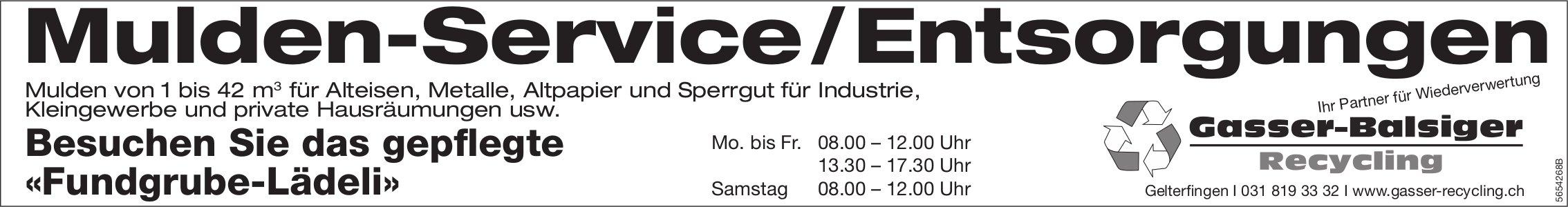 Gasser-Balsiger Recycling, Gelterfingen - Mulden-Service / Entsorgungen
