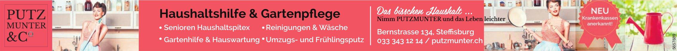 Putzmunter & Co., Steffisburg - Haushaltshilfe & Gartenpflege