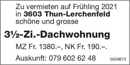 3½-Zi.-Dachwohnung, Thun-Lerchenfeld, zu vermieten