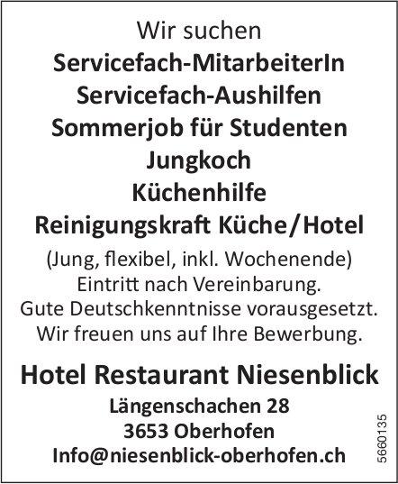 Div. Stelle, Hotel Restaurant Niesenblick, Oberhofen, zu vergeben