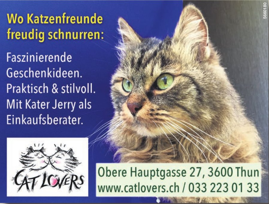 Cat Lovers - Wo Katzenfreunde freudig schnurren