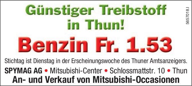SPYMAG AG, Thun - Günstiger Treibstoff in Thun! Benzin Fr. 1.53