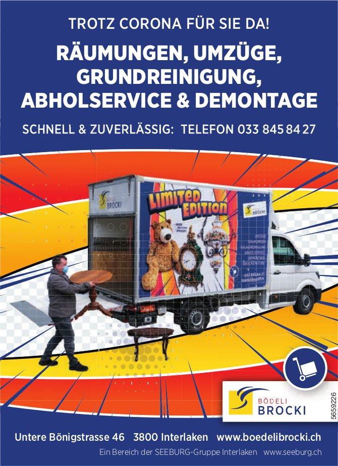 Bödeli-Brocki, Interlaken - Räumungen, Umzüge,  Grundreinigung,  Abholservice & Demontage