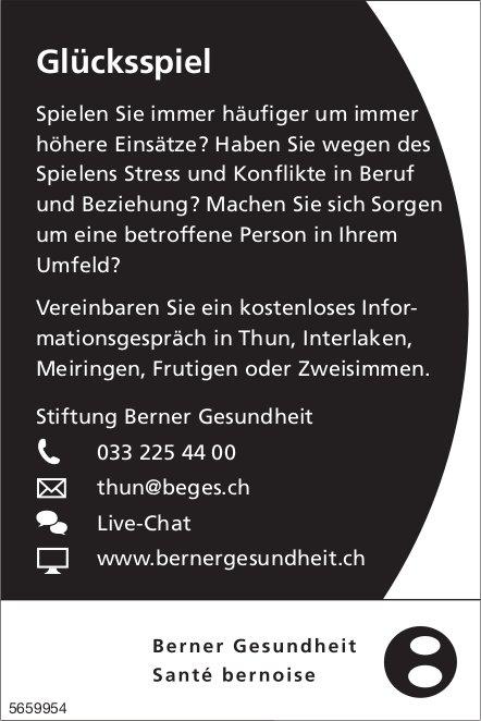 Stiftung Berner Gesundheit -  Glücksspiel