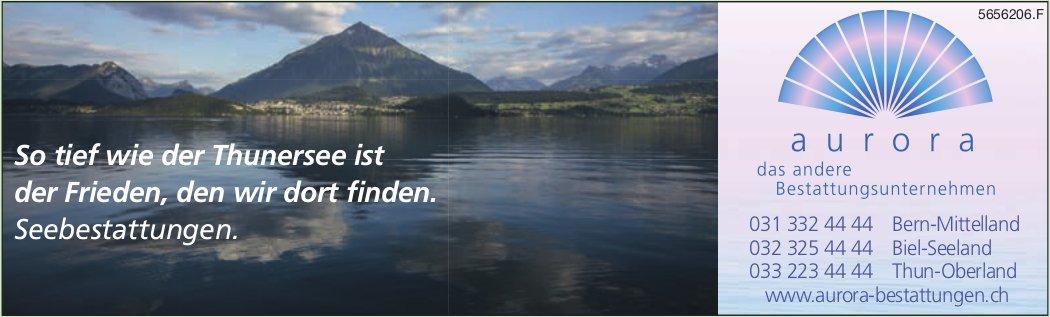 Aurora Bestattungen -  Seebestattungen - So tief wie der Thunersee ist der Frieden, den wir dort finden.