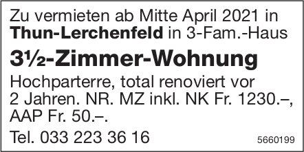 3½-Zimmer-Wohnung, Thun-Lerchenfeld, zu vermieten