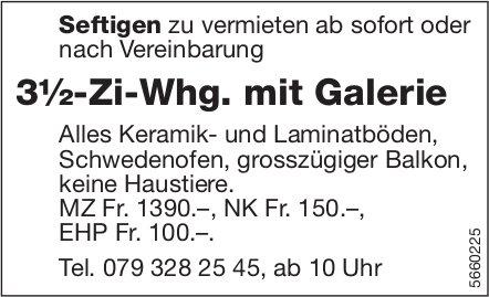 3½-Zi-Whg. mit Galerie, Seftigen, zu vermieten