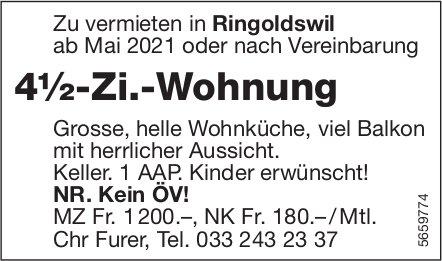 4½-Zi.-Wohnung, Ringoldswil, zu vermieten