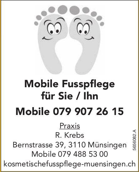 R. Krebs, Kosmetischefusspflege, Münsingen - Mobile Fusspflege für Sie / Ihn