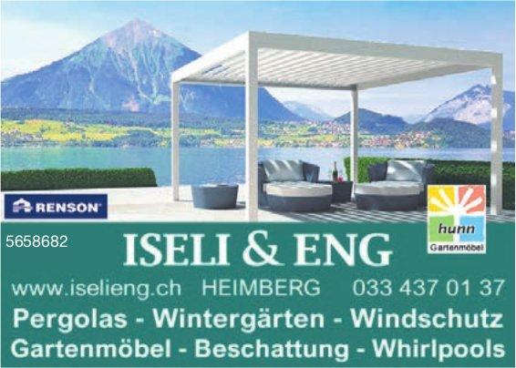 Iseli & Eng - Pergolas, Wintergärten, Windschutz, Gartenmöbel, Beschattung, Whirlpools
