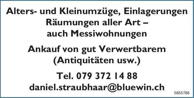 Daniel Straubhaar - Alters- und Kleinumzüge, Einlagerungen Räumungen aller Art – auch Messiwohnungen