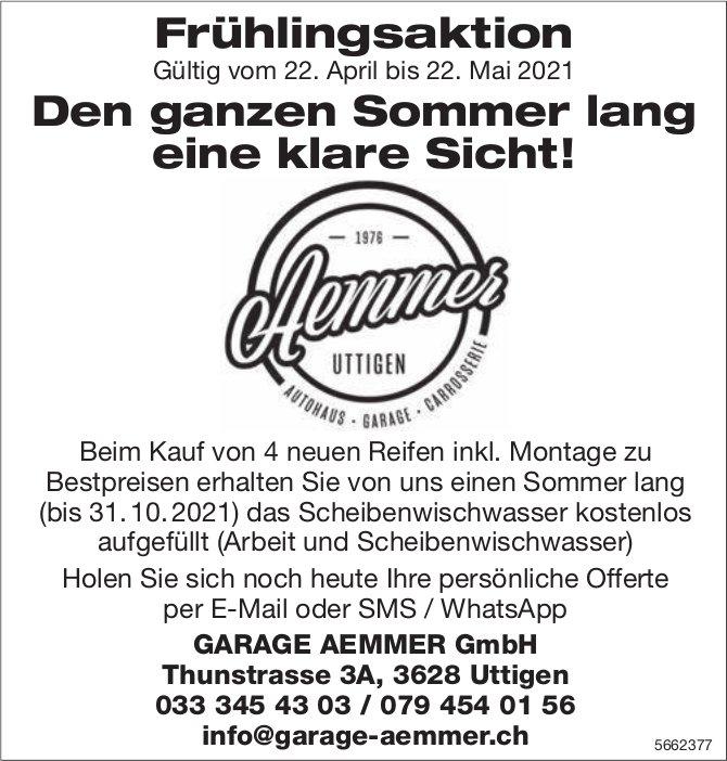 GARAGE AEMMER GmbH, Uttigen - Frühlingsaktion - Den ganzen Sommer lang eine klare Sicht!