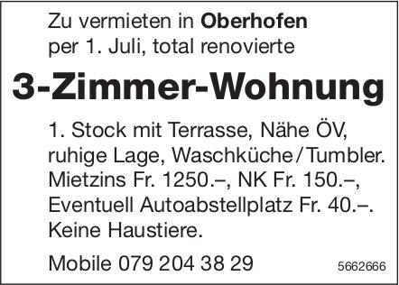 3-Zimmer-Wohnung, Oberhofen, zu vermieten