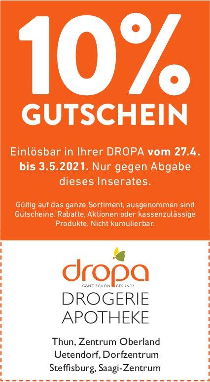 Dropa Drogerie Apotheke, Thun, Uetendorf, Steffisburg - 10% Gutschein
