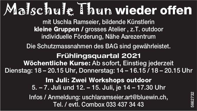 Malschule Thun wieder offen