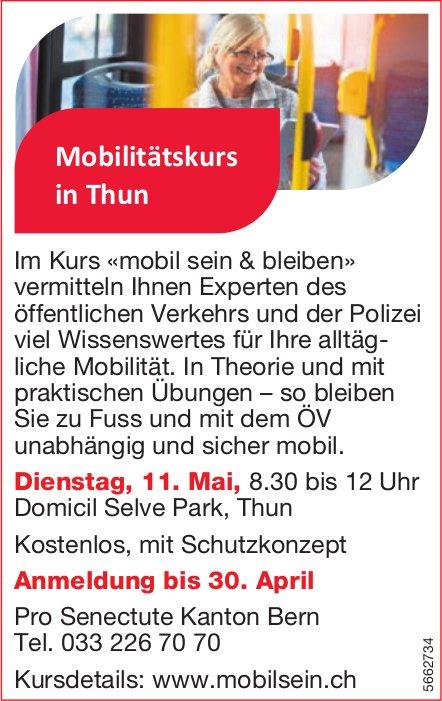 Pro Senectute Kanton Bern - Mobilitätskurs in Thun, 11. Mai