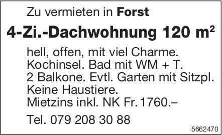 4-Zi.-Dachwohnung 120 m2, Forst, zu vermieten
