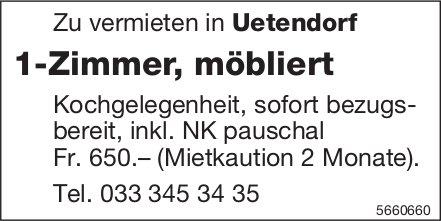 1-Zimmer, möbliert, Uetendorf, zu vermieten