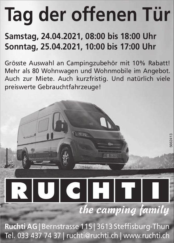 Ruchti AG - Tag der offenen Tür, 24. + 25. April, Steffisburg