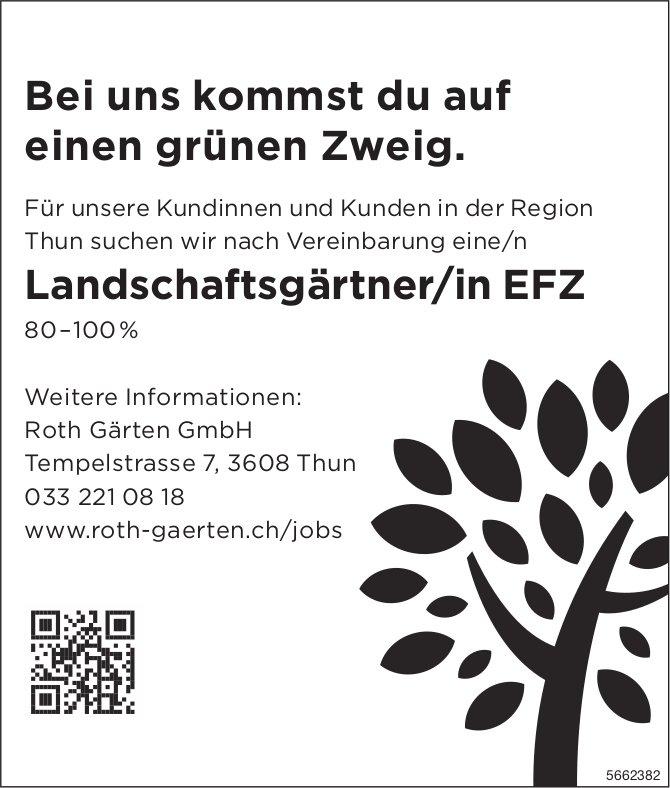 Landschaftsgärtner/in EFZ, Roth Gärten GmbH, Thun, gesucht