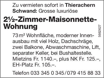 2½-Zimmer-Maisonnette-Wohnung, Thierachern Schwand, zu vermieten
