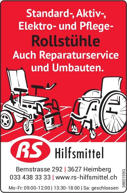 RS Hilfsmittel, Heimberg - Standard-, Aktiv-,  Elektro- und Pflege- Rollstühle