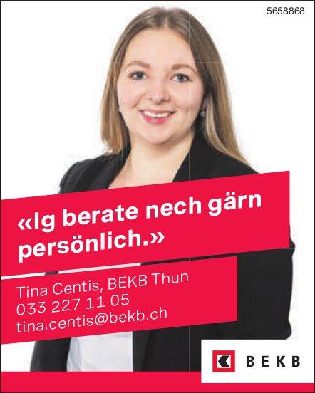 BEKB, Thun - «Ig berate nech gärn persönlich.» Tina Centis