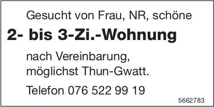 2- bis 3-Zi.-Wohnung, Thun-Gwatt, zu mieten gesucht