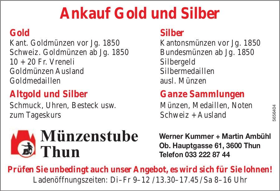 Münzenstube, Thun - Ankauf Gold und Silber