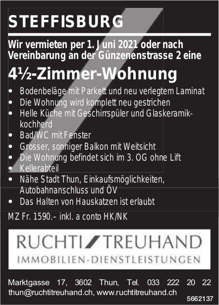 4½-Zimmer-Wohnung, Steffisburg, zu vermieten