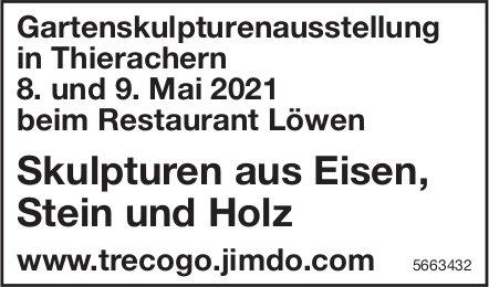 Skulpturen aus Eisen, Stein und Holz Gartenskulpturenausstellung, 8. + 9. Mai, Thierachern