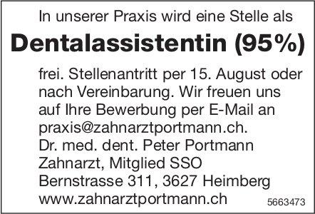 Dentalassistentin (95%), Praxis Dr. med. dent. Peter Portmann, Heimberg, gesucht