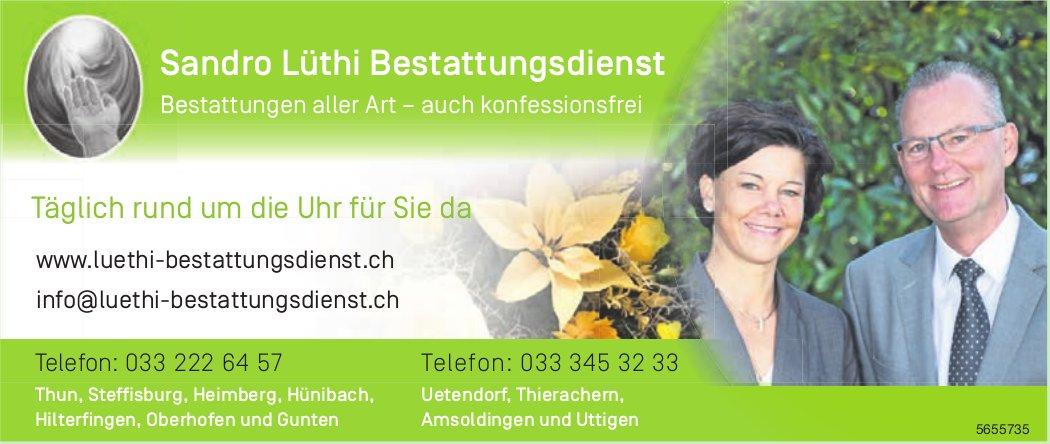 Sandro Lüthi Bestattungsdienst - Täglich rund um die Uhr für Sie da