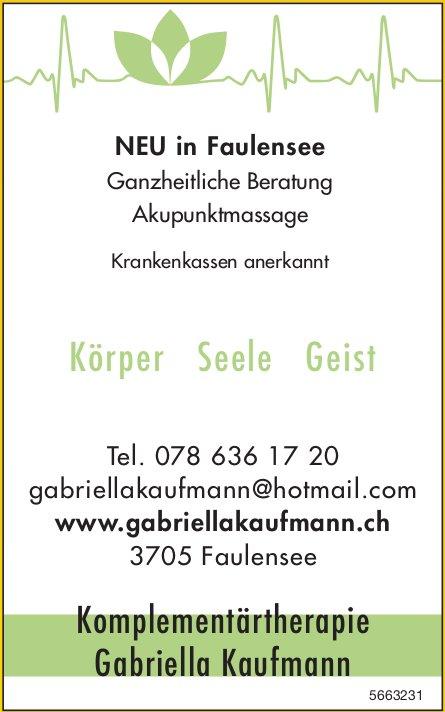 Gabriella Kaufmann, Faulensee - Körper Seele Geist