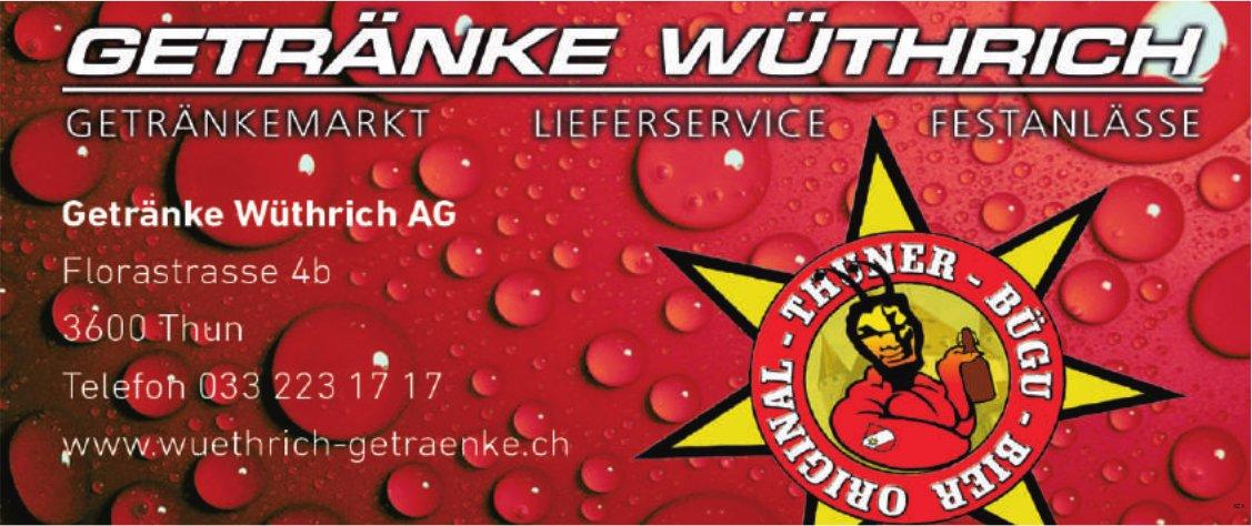 Getränke Wüthrich AG, Thun - Getränkemarkt, Lieferservice,  Festanlässe