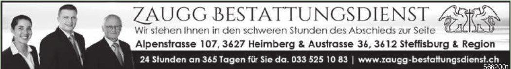 Zaugg Bestattungsdienst, Heimberg, Steffisburg & Region - Wir stehen Ihnen in den schweren Stunden des Abschieds zur Seite