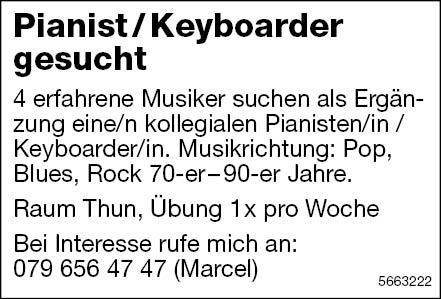 Pianist / Keyboarder, Thun, gesucht
