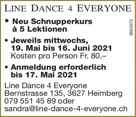 Line Dance 4 Everyone, Heimberg - Tanzkurse ab 19. Mai