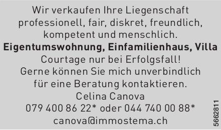 Canova Immostema - Wir verkaufen Ihre Liegenschaft professionell, fair,  diskret,  freundlich