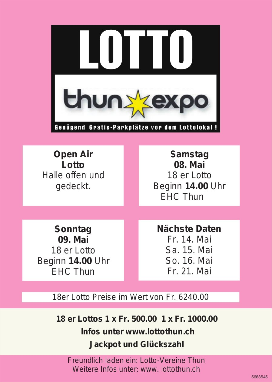 Lotto Thun Expo, 8./ 9 . Mai