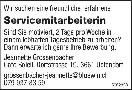 Servicemitarbeiterin, Café Soleil, Uetendorf, gesucht