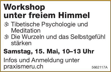 Workshop unter freiem Himmel, 15. Mai, Praxis Meru