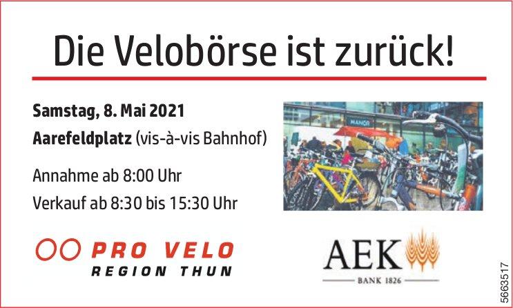 Pro Velo Region Thun - Die Velobörse ist zurück! 8. Mai