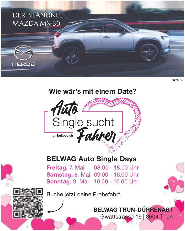 Belwag Auto Single Days - Auto Single sucht Fahrer, 7. /8. /9. Mai, Thun